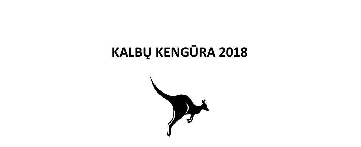 Sveikiname Kalbų Kengūros 2018 nugalėtojus!