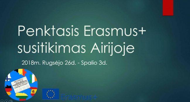 ERASMUS+ projekto patirtys