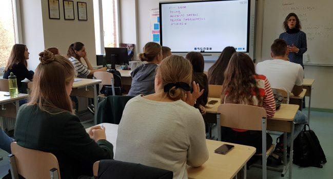 "Paskaita – seminaras Erasmus+ projekto ,,Green Teen Entrepreneurs"" dalyviams"