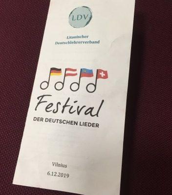 Vokiškų dainų festivalis 2019 Vilniuje