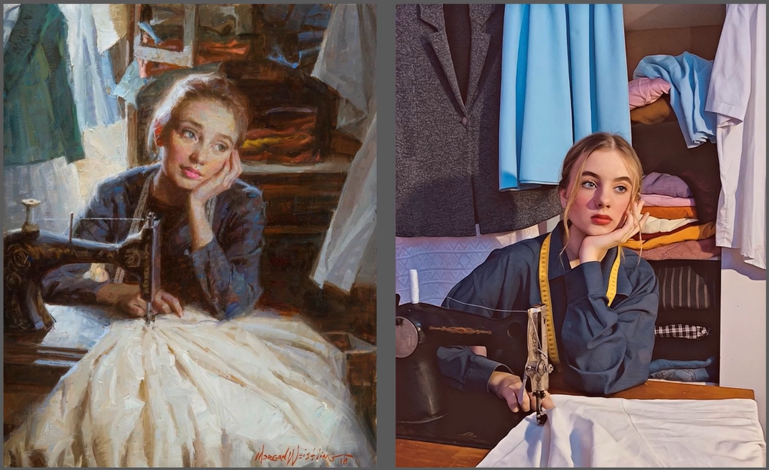 Žvilgsnis į dailininkų paveikslus gimnazistų akimis